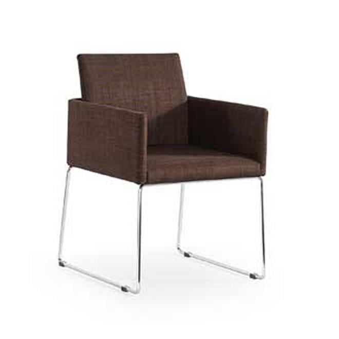 Silla tud n marr n muebles room for Silla marron