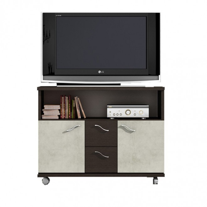 Mueble tv wengue plata muebles room for Mueble wengue