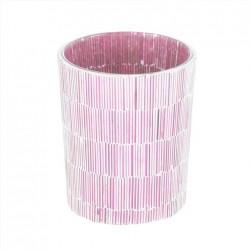 Portavelas rosa Cristal
