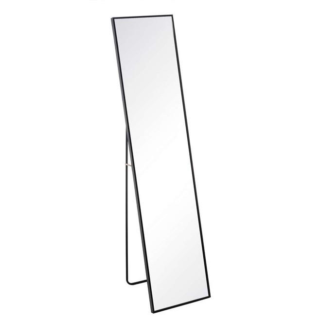 Espejo negro aluminio y cristal