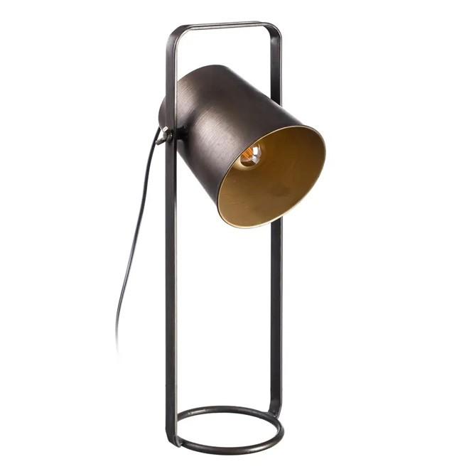 Lámpara de mesa oro envejecido