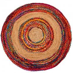 Alfombra circulos multicolor 150 cms