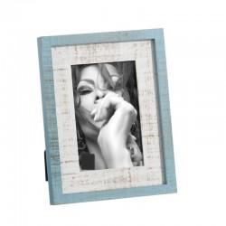 Portafotos blanco-azul 10x15