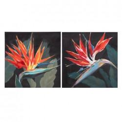 PINTURA FLORES NEGRO-ROJO LIENZO - 50 X 2,70 X 50 CM
