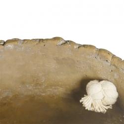 MACETERO CESTA NATURAL-BLANCO CEMENTO 17,50 X 17,50 X 13 CM