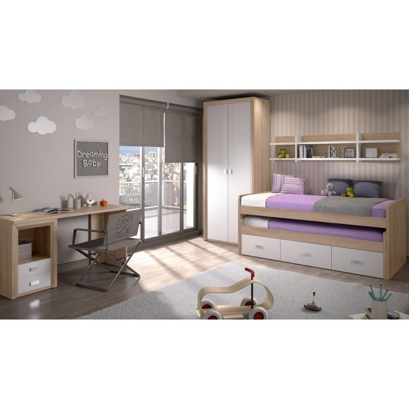 Dormitorio Compacto Suorit con Armario