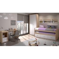 Dormitorio Compacto Suorit sin Armario