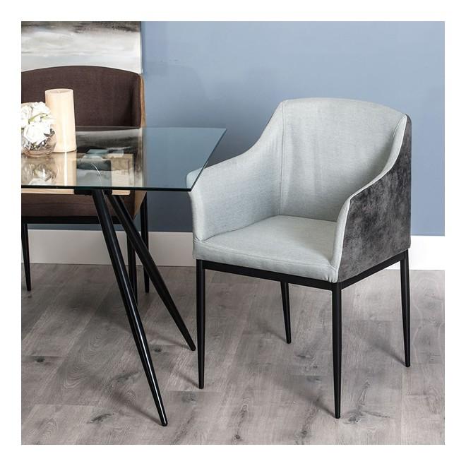 Silla jerte gris muebles room for Sillas salon gris