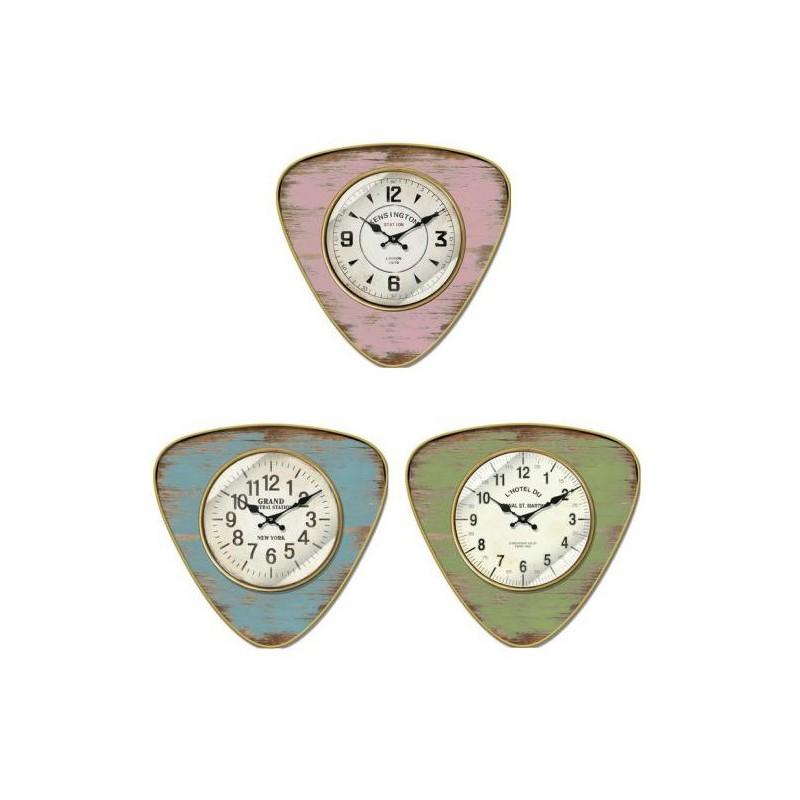 Reloj pared metal 38cm - 3 colores