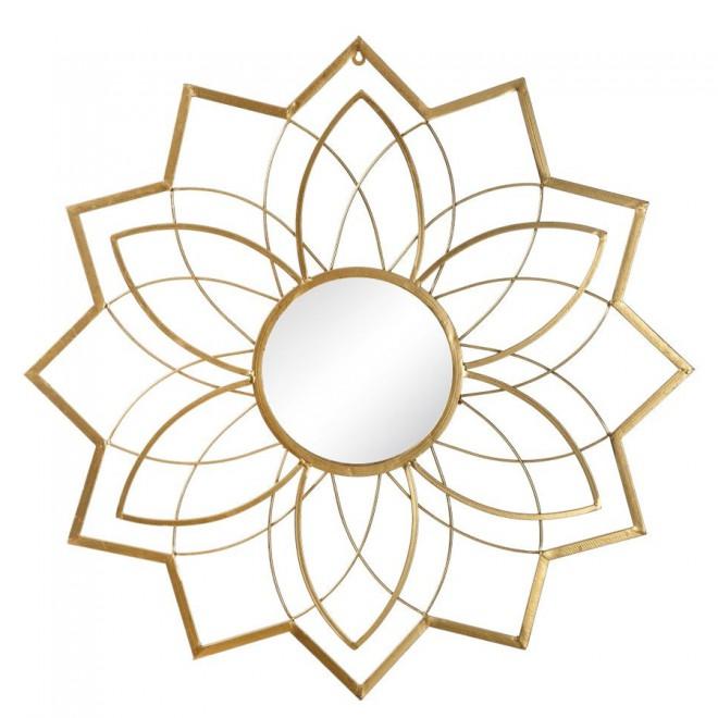Espejo oro metal 80 cms