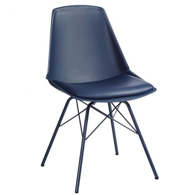 Silla Azul PP/metal