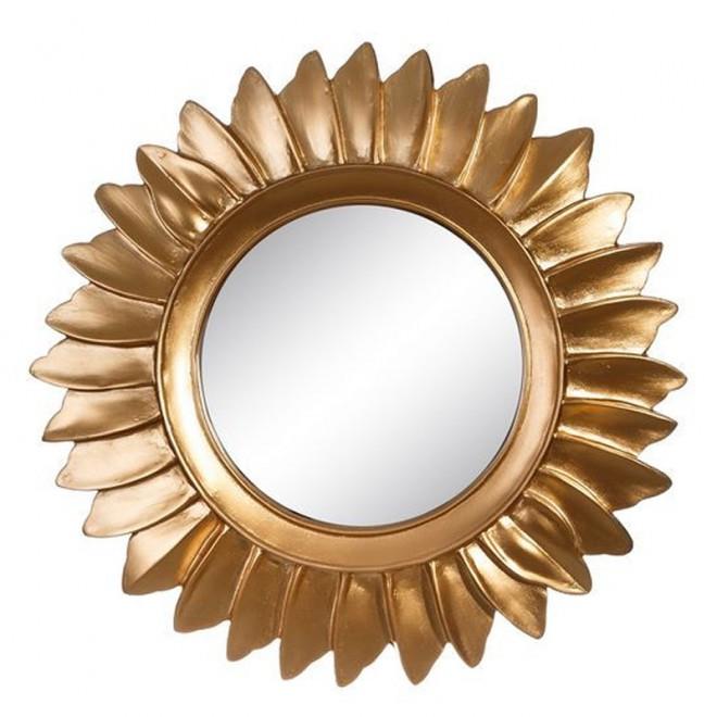 Espejo oro resina 35 cms