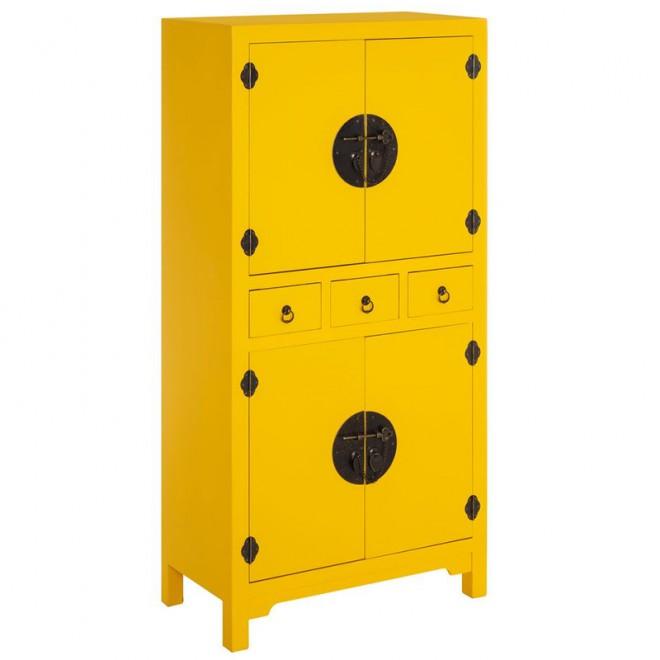 Mueble auxiliar amarillo