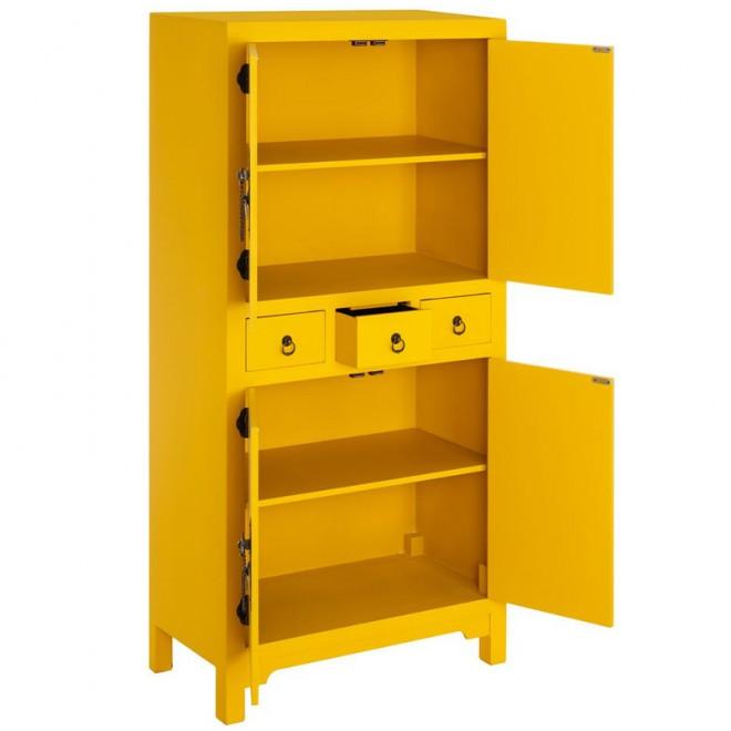 Mueble auxiliar amarillo muebles room for Mueble auxiliar salon
