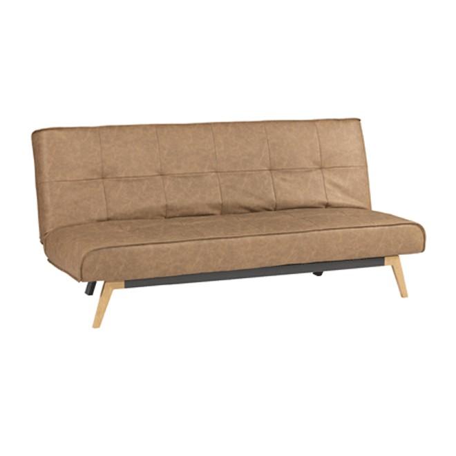 Sof cama click clack karla cognac muebles room for Sofa cama de click clack