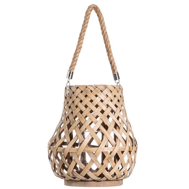 faroles Portavelas  Bambú - 3 medidas
