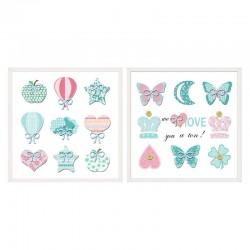 Cuadros mariposas 30 x 30
