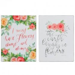 Placas metal flores