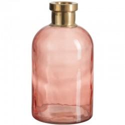 Florero cristal rosa
