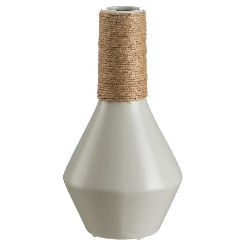 Jarrón gris bambú 29 cms