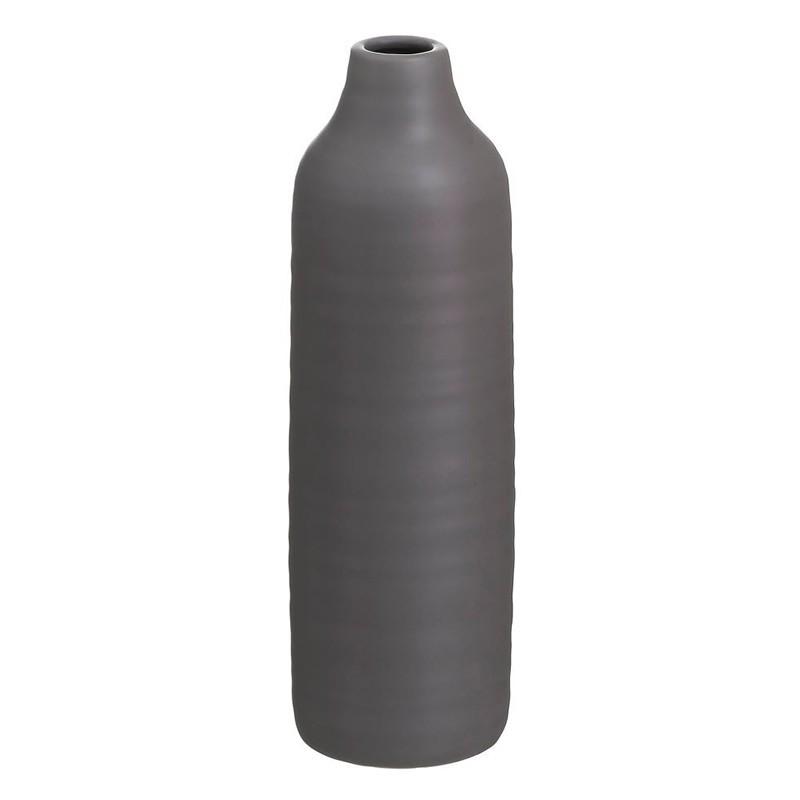 Jarrón gris cerámica 30 cms