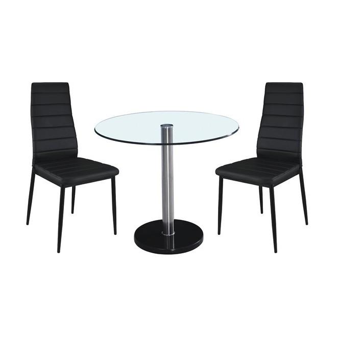 Mesa baz acero y cristal muebles room - Mesas acero y cristal ...