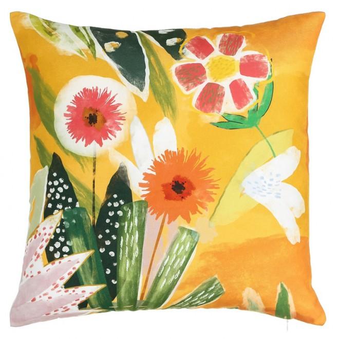 COJIN flores naranja 45x45