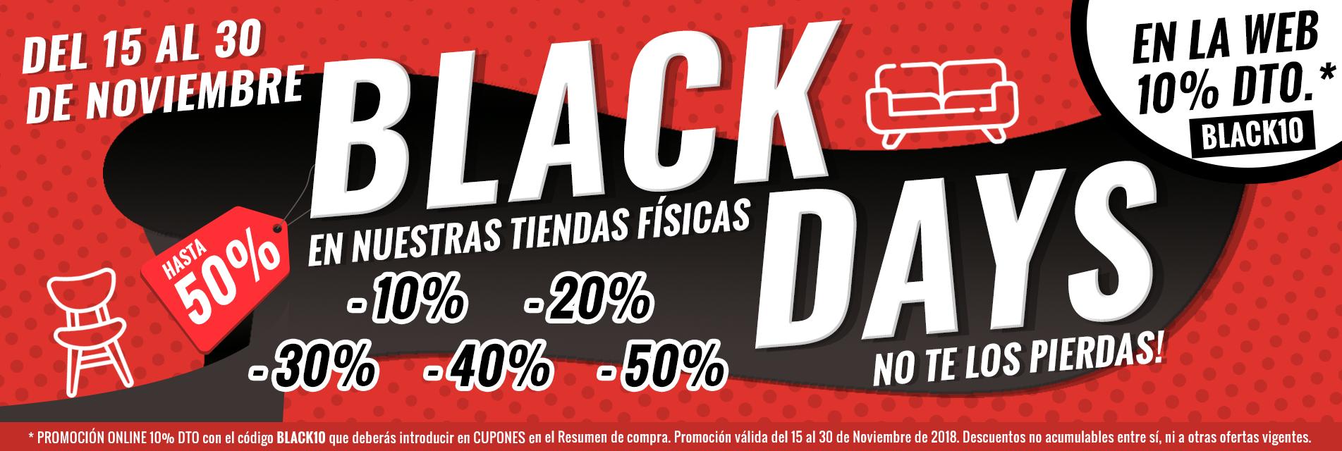 Black days en tiendas